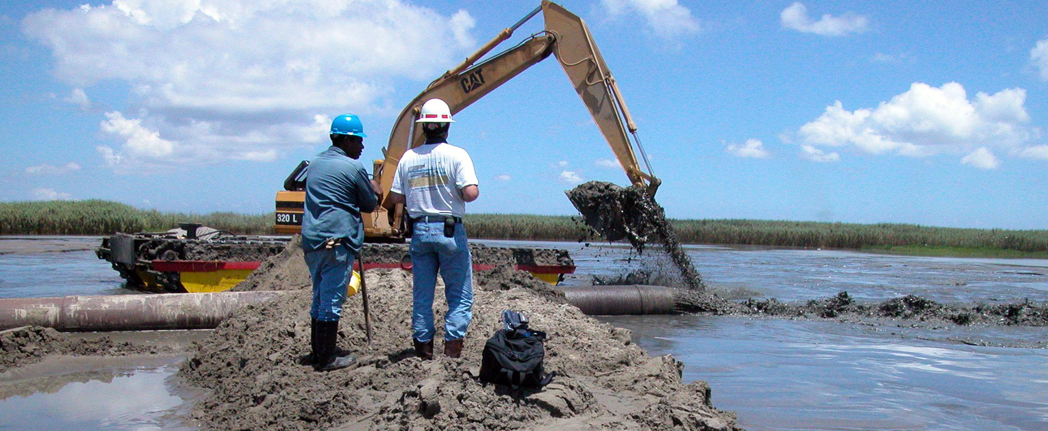 USACE dredging to create marshland